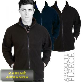 Bliuzonas Absolute Apparel AA61 Heritage Mens Full Zip Zipped Fleece