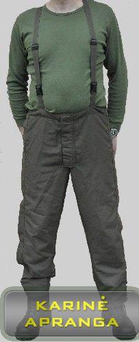 Neperšlampamos austrų kariuomenės kelnės