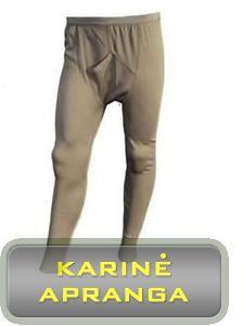 Britų kariuomenės apatinės šiltos kelnės  Johns Drawers Thermal Underwear