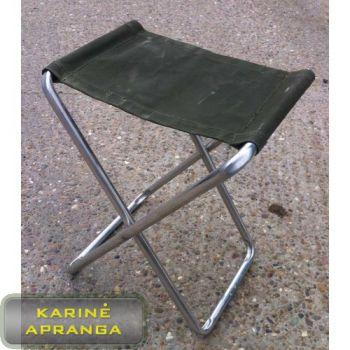 """Britų kariuomenės sulankstoma """"planavimo"""" kėdutė. (British Army Aluminium Folding Stool)"""