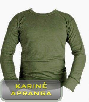 Britų kariuomenės apatiniai šilti marškiniai. British Army Issue Vest thermal Underwear Olive
