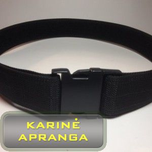 Diržas juodas su Velcro (2″ Double Inner Adjustment Plastic Side Release Buckle Duty Belt With Velcro Lining).