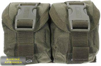 """""""BLACKHAWK STRIKE"""" dvigubas granatos krepšelis , žalios spalvos, mažai dėvėtas (BLACKHAWK STRIKE frag grenade, dual, grean, used, Grade 1)"""