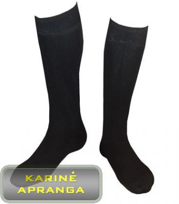 Demisezoninės juodos kariuomenės kojinės
