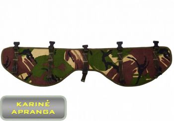 Klubų apsauga dedama po amunicijos diržu nešant didelius svorius, mažai dėvėtas (battle belt) (Pad hip protection DPM, used, Grade 1)
