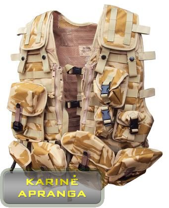 "Amunicijos liemenė ""Desetrt"". (Molle Vest Tactical Load Carrying Desert DPM)"