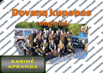 Dovanų kuponas - Kariniam Renginiui (11 dalyvių)