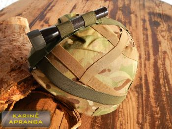 Šviestuvo tvirtinimo guma. Headband personal combat torch centre position