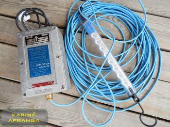 LED pramoninis nešiojamas šviestuvas. Smith & Prince electric hand lamp power supply type 601 IS with LED Lamp.