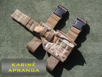 """""""MulticamTM"""" universalus pistoleto dėklas (""""MulticamTM"""" pistol holster)."""