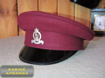 Paradinė kepurė su skiriamuoju ženklu 56, 57 cm (vyšninė).