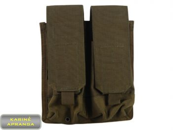 """BLACKHAWK STRIKE"" dėtuvių dėklas 4 dėtuvėms AK-47/M4, žalios spalvos, naujas (""BLACKHAWK STRIKE"" AK-47  Double Magazine pouch (Holds 4), grean, new)"