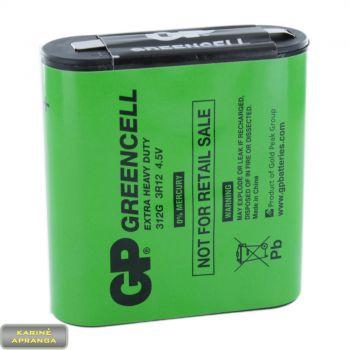 Baterijos-Elementai GP GREENCELL Extra Heavy Duty 312G, 3R12 4.5V