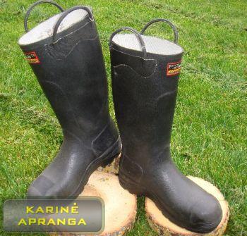 Ugniagesių juodi guminiai batai