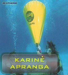 """""""JW AUTO MARINE"""" povandeninis kėlimo krepšys, mažai dėvėtas, praktiškai naujas (JW Auto Marine Parachute Type Lift Bag, new)"""