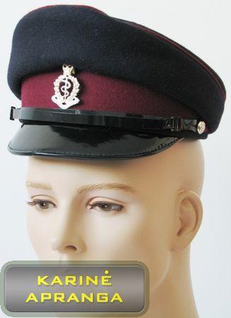 Paradinė kepurė su skiriamuoju ženklu 56 cm (juoda, purpurinė).