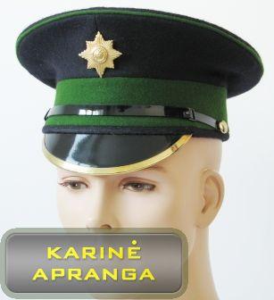 Paradinė kepurė su skiriamuoju ženklu 57 cm (žalia, juoda).