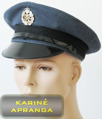 Paradinė kepurė su skiriamuoju ženklu 57 cm (melsva, juoda).