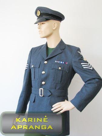 Melsvas britų kariuomenės paradinis švarkas.