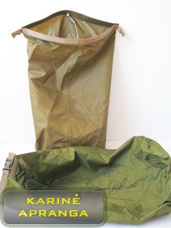 Krepšys/maišas nelaidus vandeniui (žalias arba rudas).