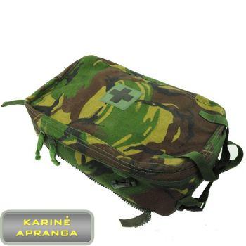 Britų kariuomenės medicininės pagalbos krepšys, DPM marginimo spalvos, mažai naudotas (British Army Woodland DPM Medic Bergen Side Pouch, used, Grade 1)