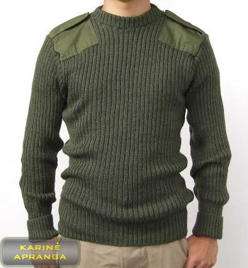 Žalias šiltas kariuomenės megztinis (Army Sweater)