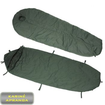 Modulinis karinis miegmaišis su termoizoliaciniu sluoksniu. Modular Sleeping Bag British issue Medium and Light Weight Olive green bag with New Modular liner.