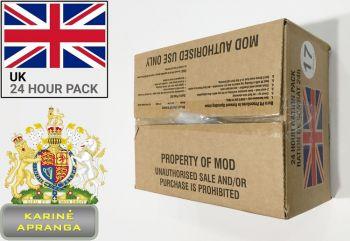 Britų kariuomenės individualūs sausi kariniai maisto daviniai 24 val.