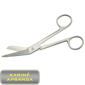 Medicininės žirklės (Cut Bandage Scissors-professional, medical steel)