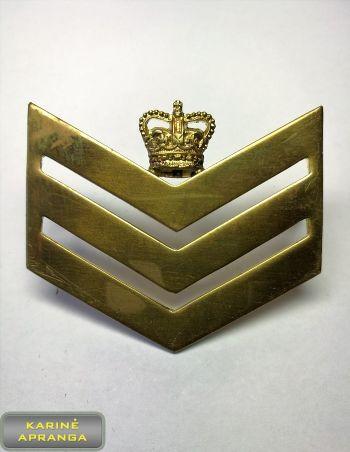 Seržanto majoro metalinis laipsnis, ženklas  Nr.22