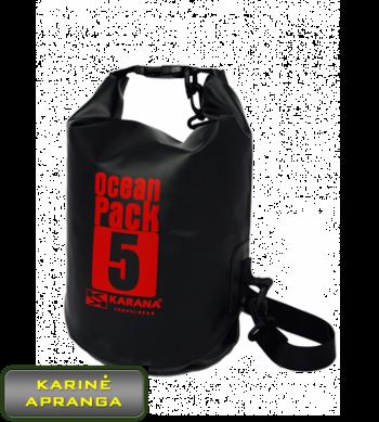 Neperšlampamas krepšys/maišas Karana Travelgear Ocean Pack 5 (juodas).