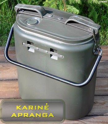 Profesionalus kariuomenės 13 L. maisto konteineris. Pagamintas Švedijoje. (Original military field food thermos 13l from Swedish army)