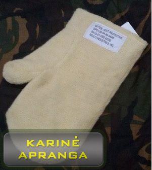 Pirštinės atsparios karščiui (Heat protective gloves).