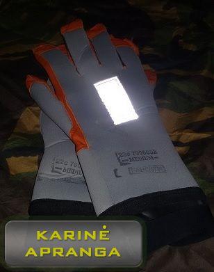 Profesionalios pirštuotos pirštinės (Professional gloves).