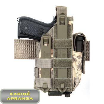 """BLACKHAWK"" ""Omega"" pistoleto dėklas, tamsaus smėlio spalvos, mažai dėvėtas (BLACKHAWK ""Omega"" Pistol Holster , coyote tan, used, Grade 1)"