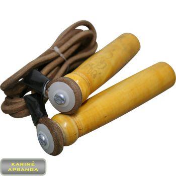 Rankų darbo kompanijos Pro-Box šokdynė. Pro-Box Leather skipping rope.