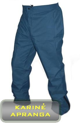 "Neperšlampamos, mėlynos spalvos, RAF kelnės su ""Gore-Tex"". (RAF Goretex Wet Weather Trousers)."