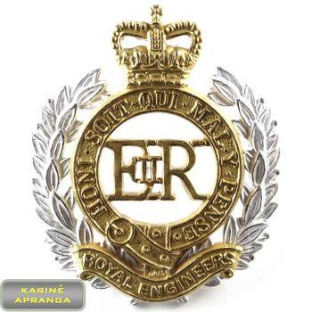 Ženklas JK Karališkųjų Inžinierių. Badge UK Royal Engineers.