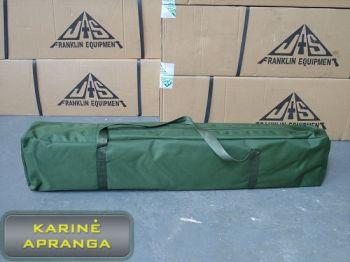 Sudedamos lovos transportavimo dėklas, dėvėtas (Army Heavy Duty Aluminium Folding Camp Bed Carry Bag, used, Grade 2)