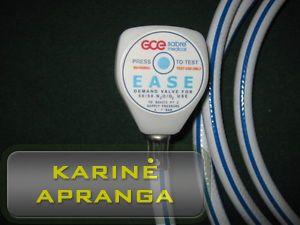 GCE SABRE MEDICAL vožtuvas su žarna, mažai naudotas (GCE SABRE MEDICALEASE demand valve, used, Grade 1)
