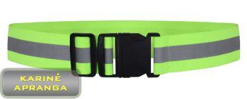 Šviesą atspindintis saugos diržas-atšvaitas YFY 48 reguliuojamas.