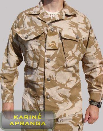 Smėlio  spalvos maskuojamas britų kariuomenės švarkas
