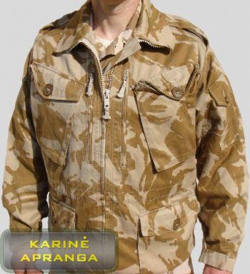 Smėlio spalvos maskuojamoji britų kariuomenės striukė