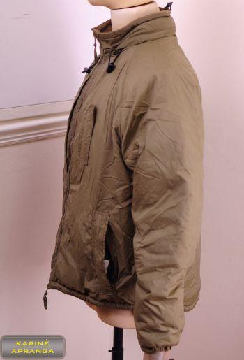 Profesionali, atnaujinta britų kariuomenės termo striukė. British Army Thermal Softie Jacket With Integral Stuff Bag.