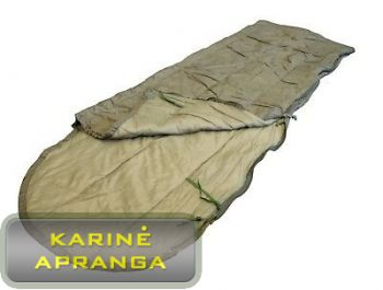 Miegmaišis šiltam orui. Army hot weather sleeping bag.