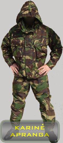 Neperšlampamos žalios maskuojamosios britų kariuomenės kelnės