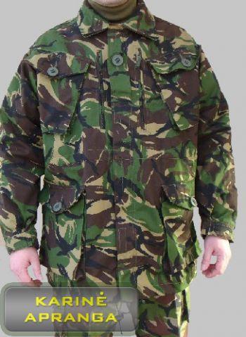 Žalios spalvos maskuojamoji britų kariuomenės striukė