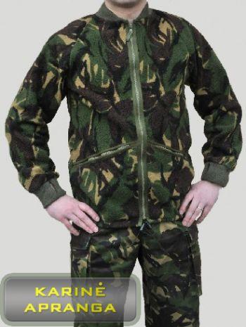 Žalias maskuojamasis šiltas britų kariuomenės bliuzonas