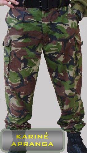 Žalios maskuojamosios britų kariuomenės kelnės